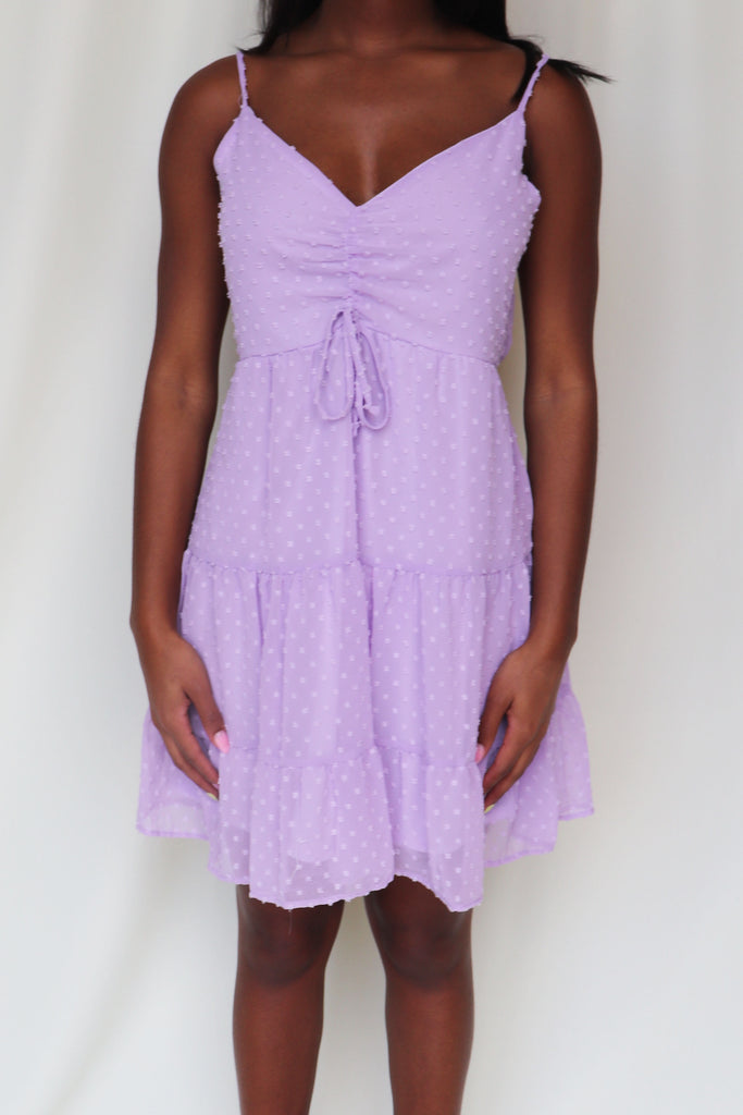 THE BEST SURPRISE LAVENDER MINI DRESS