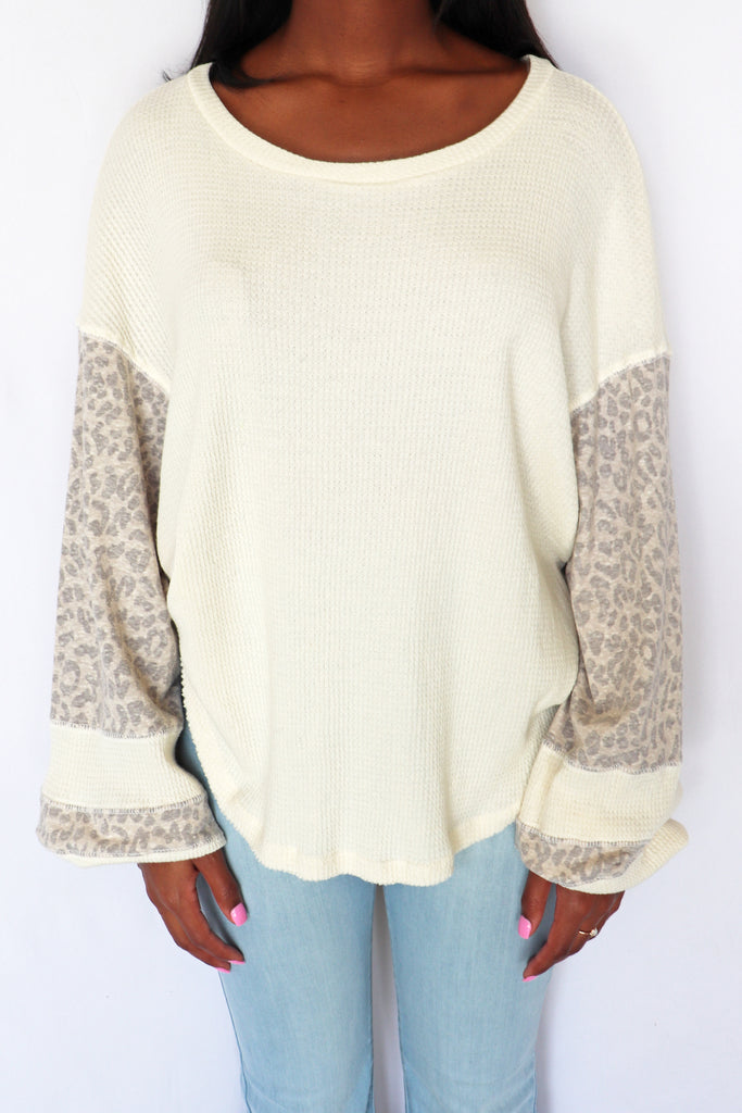 SHAKE IT OFF LEOPARD TOP | BY TOGETHER Blu Spero online shopping