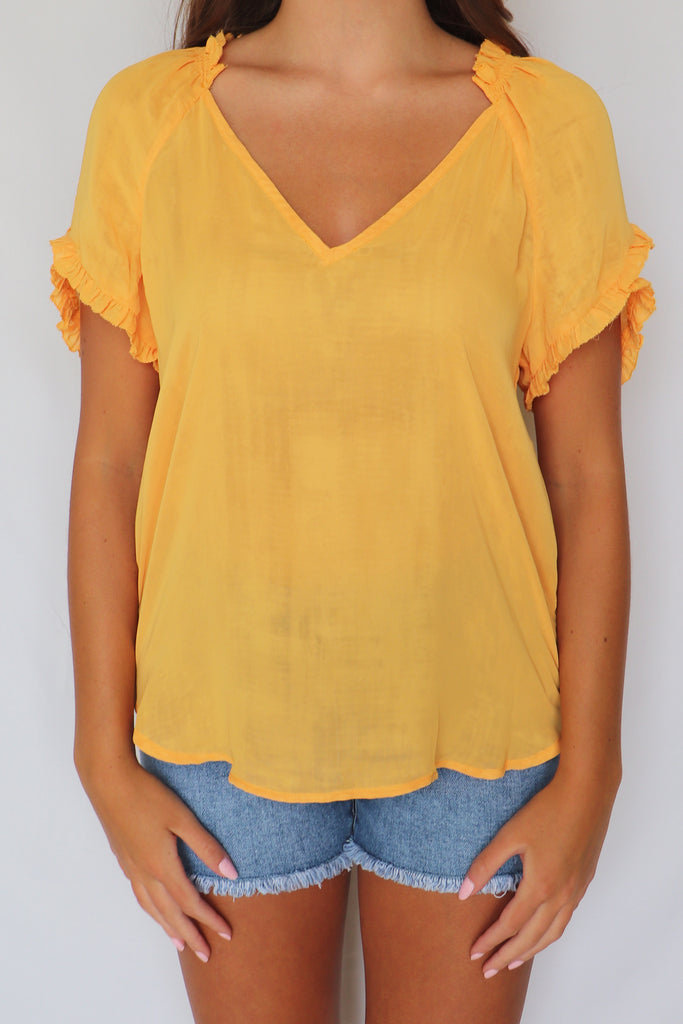 ONE IN MELON ORANGE BLOUSE