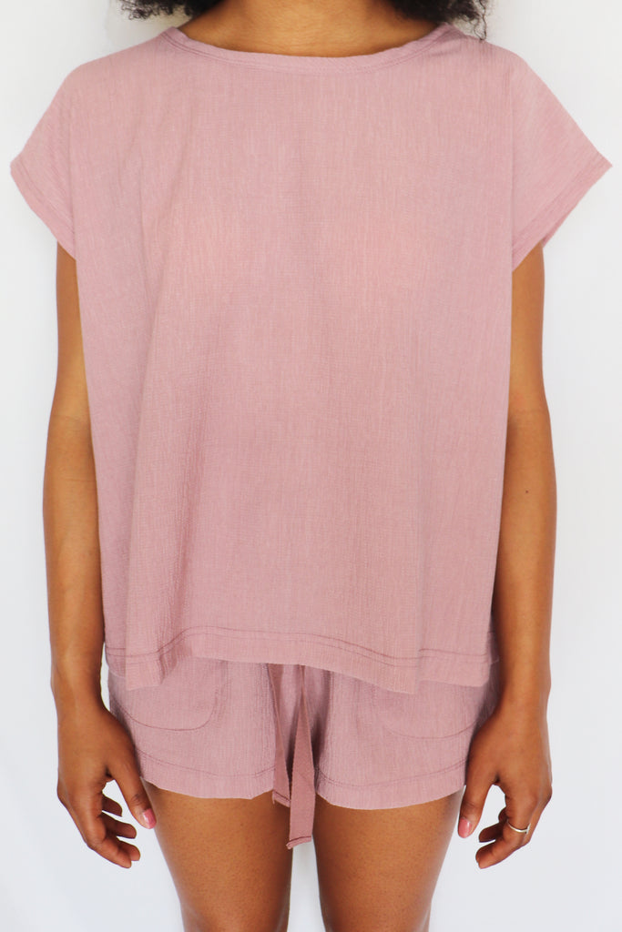 WOKE UP LIKE THIS LILAC TOP | IN LOOM Blu Spero online shopping