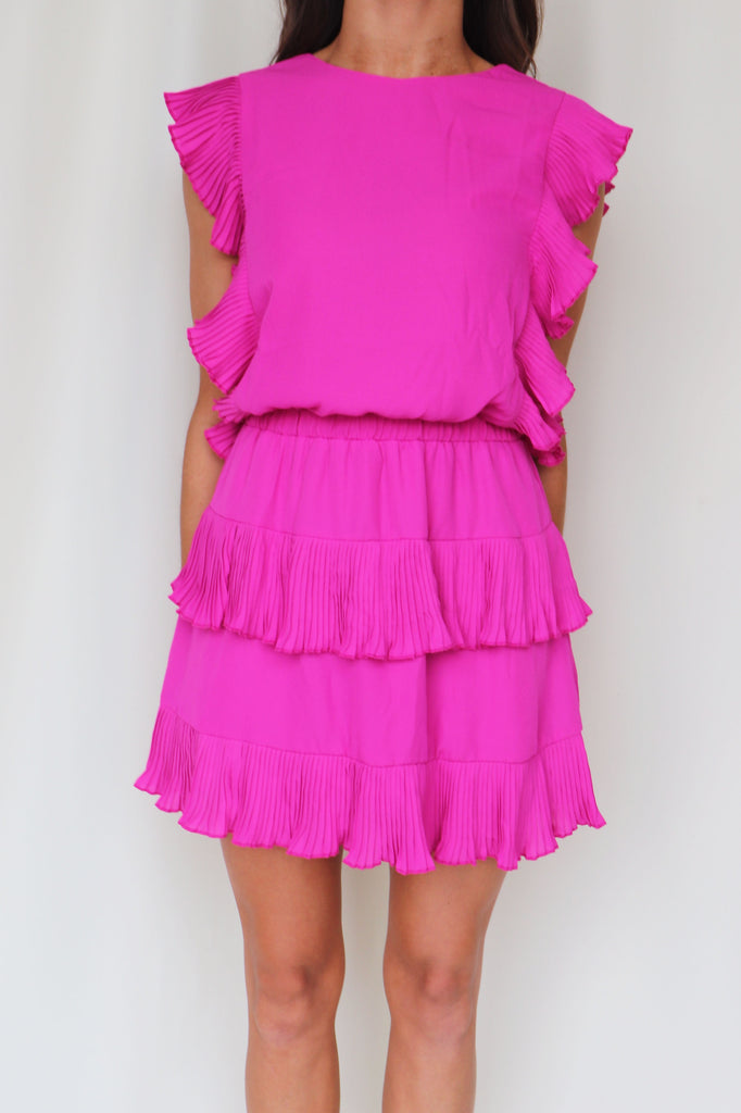 MY GIFT PLEATED MINI DRESS - 2 COLORS