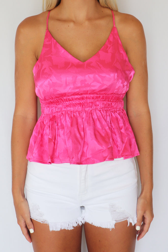 SUN KISSED SATIN TANK TOP | Entro Blu Spero online shopping