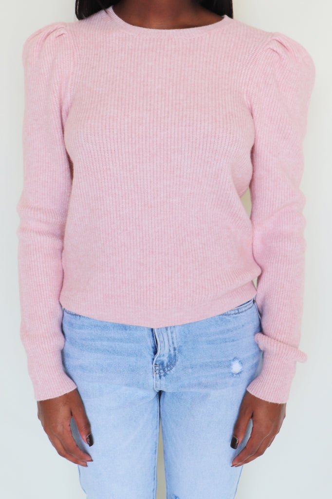 MY GOSH BLUSH SWEATER