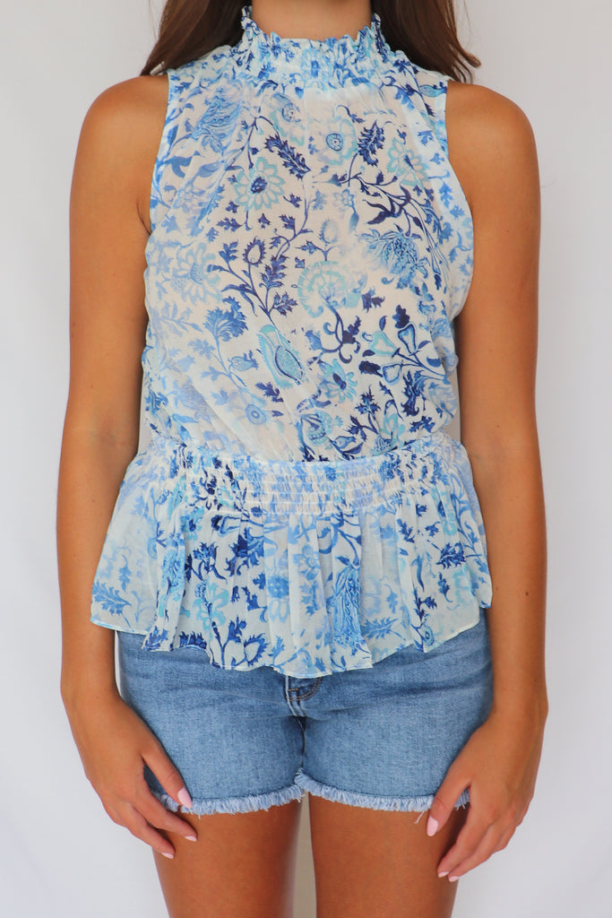 MAKE YOUR OWN RULES PAISLEY TOP | Olivaceous Blu Spero online shopping