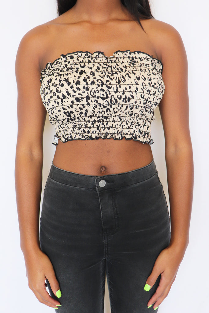 GIVE THE RUN AROUND TUBE TOP | LE LIS Blu Spero online shopping