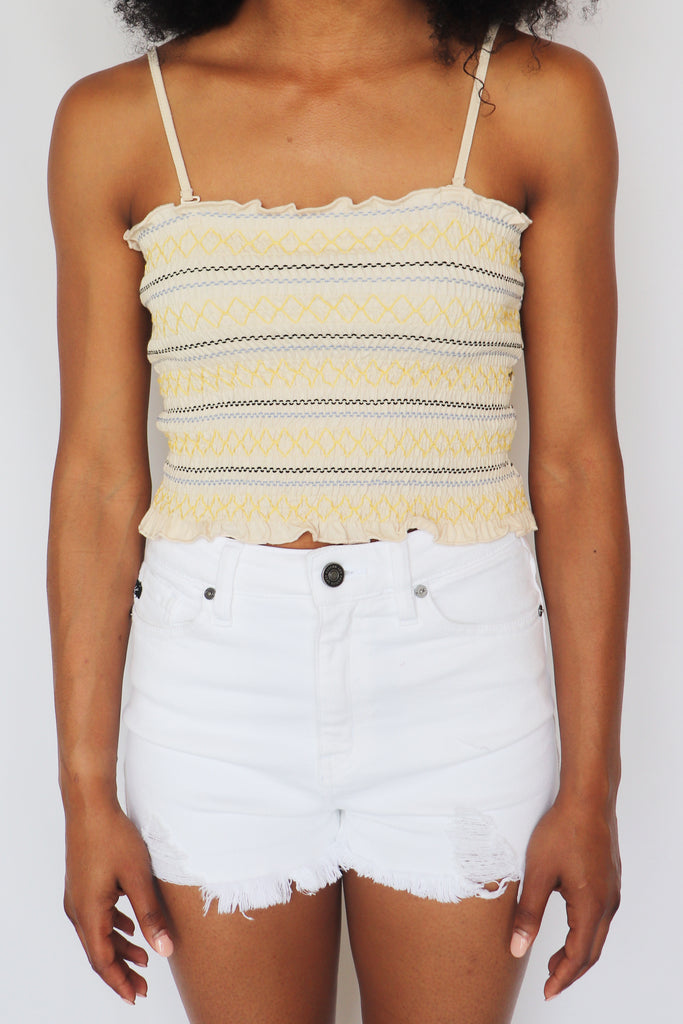 SILLY LOVE SMOCKED TANK TOP | HEM & THREAD Blu Spero online shopping
