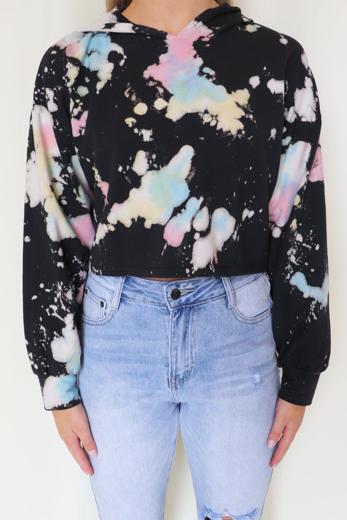 GIVE ME THAT DOPE CROPPED HOODIE | BLUE BLUSH Blu Spero online shopping