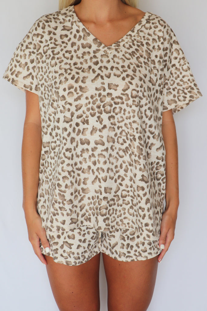 BREATHLESS CHARM LEOPARD PRINT TOP