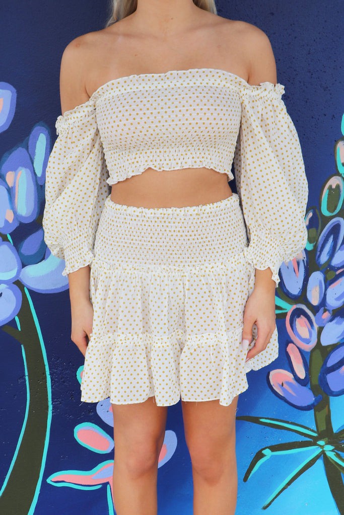 MAJOR YES POLKA DOT CROP TOP