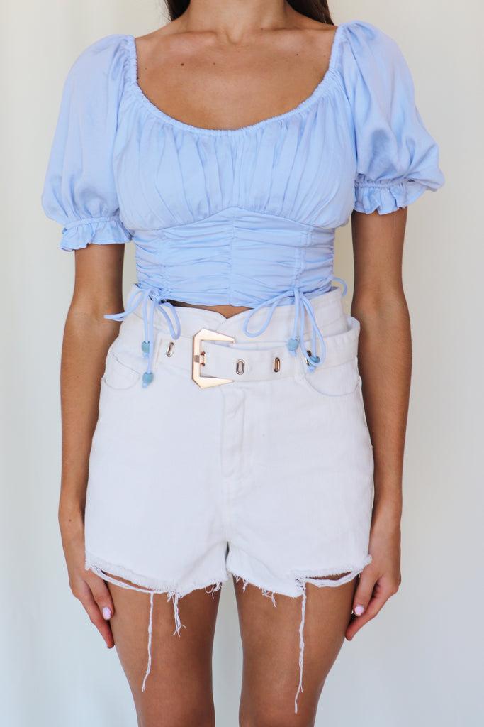 PETRICHOR BLUE CROP TOP
