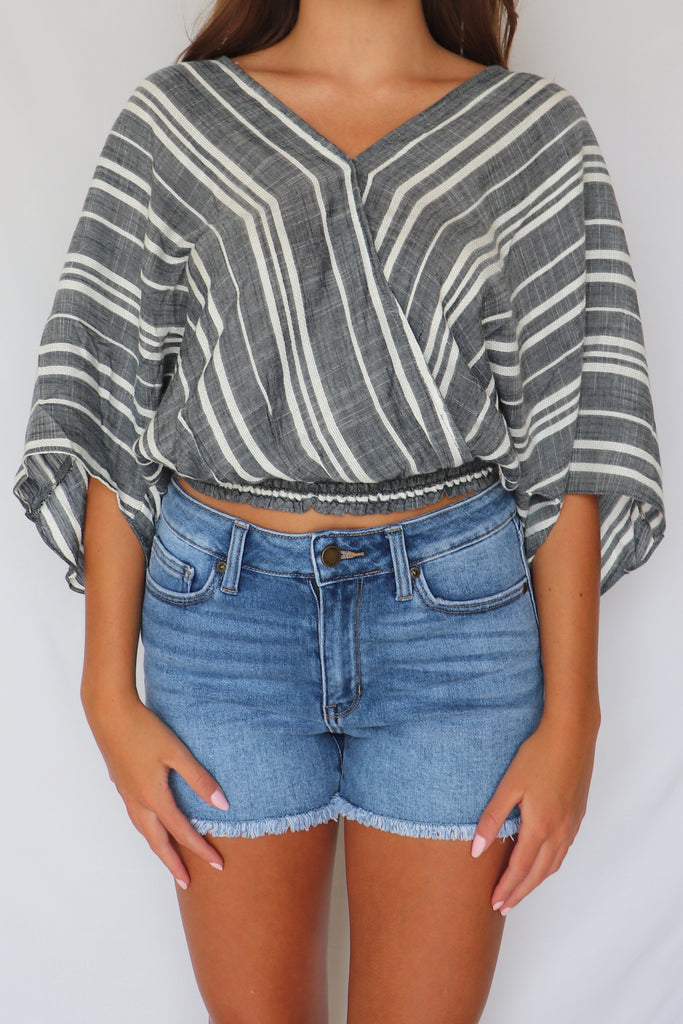 SOMETHING TO TALK ABOUT STRIPED TOP