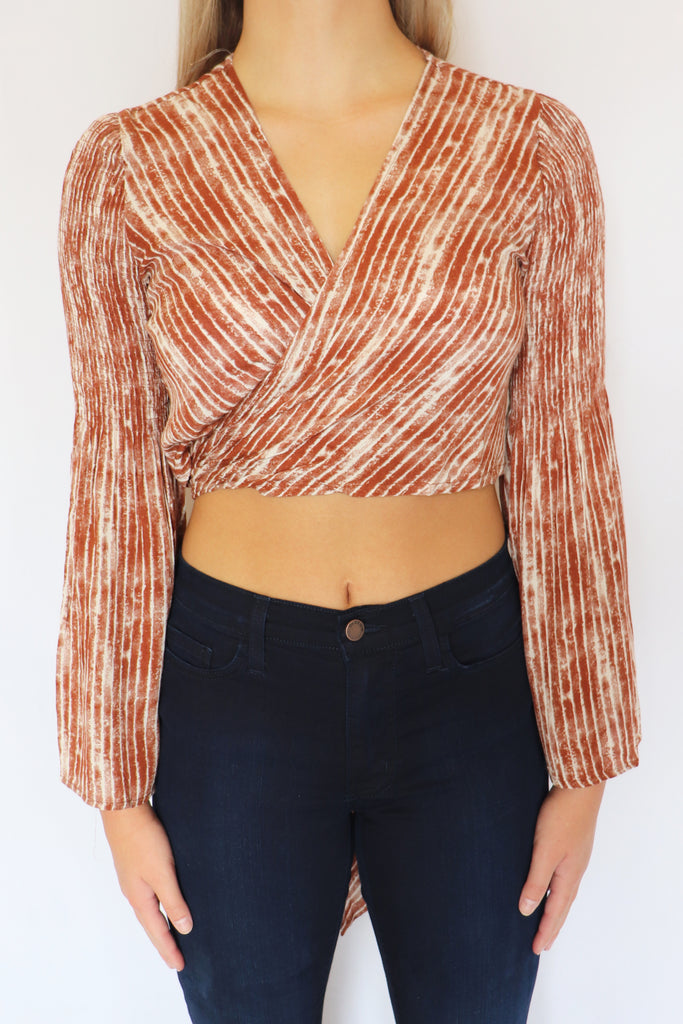 BONITA RUST CROP TOP | ILLA ILLA Blu Spero online shopping