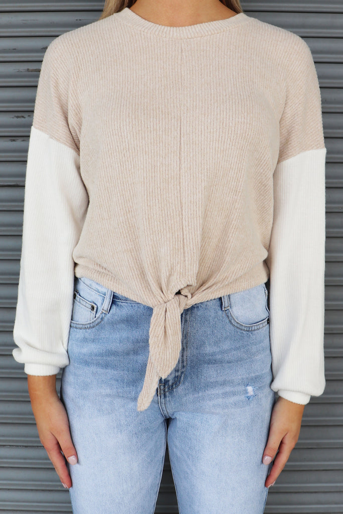 FINESSE MY CLOSET OATMEAL PULLOVER | BLUE BLUSH Blu Spero online shopping