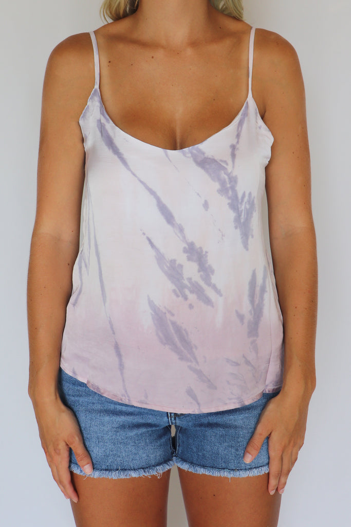 FEELIN' ALIVE TIE-DYE TANK TOP | Olivaceous Blu Spero online shopping