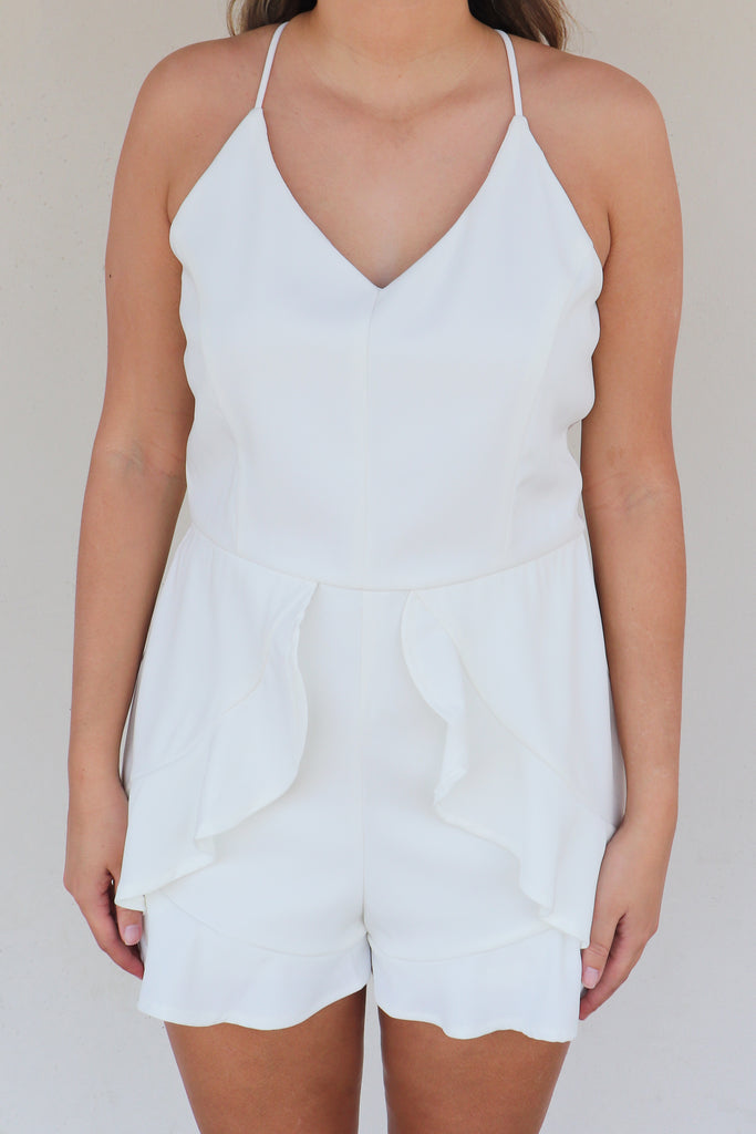 SPREAD THE LOVE WHITE ROMPER