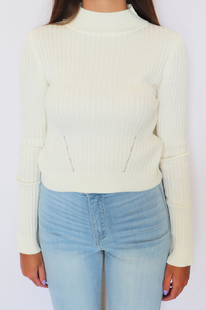 SWEATER SEASON RIBBED CROP TOP