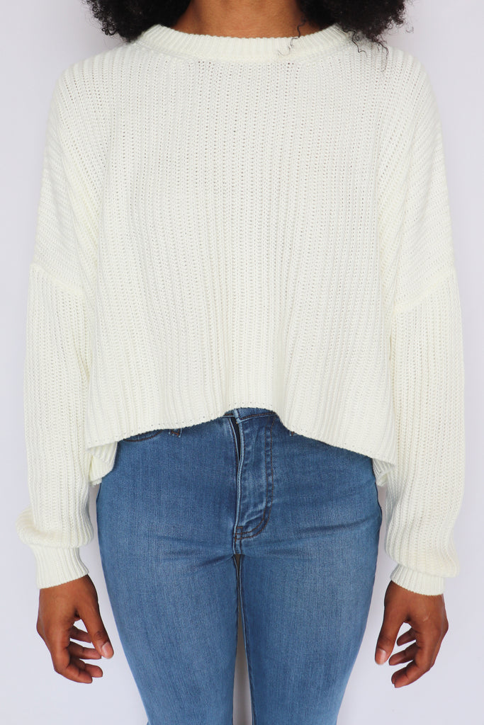 COMING UP COZY IVORY SWEATER