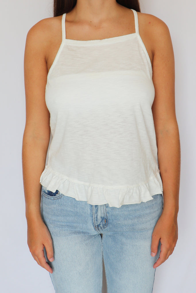 UNCOMPLICATED WASHED COTTON TANK | FINAL TOUCH Blu Spero online shopping