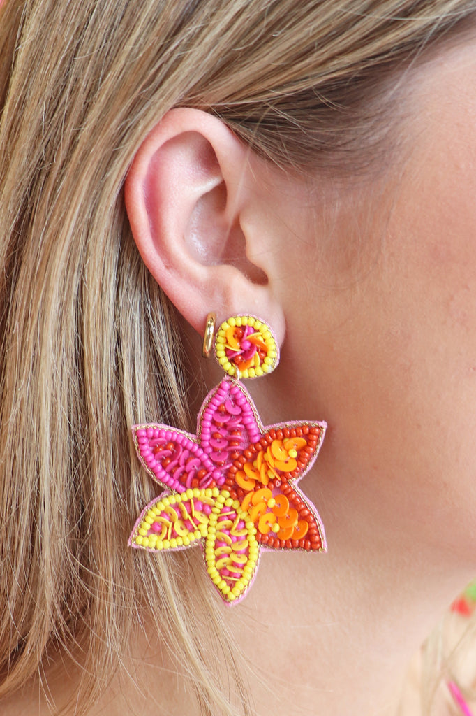 MULTI FLOWER EARRINGS
