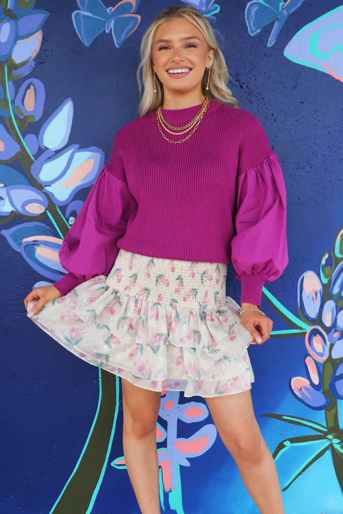 SPRING HAS SPRUNG SMOCK SKIRT