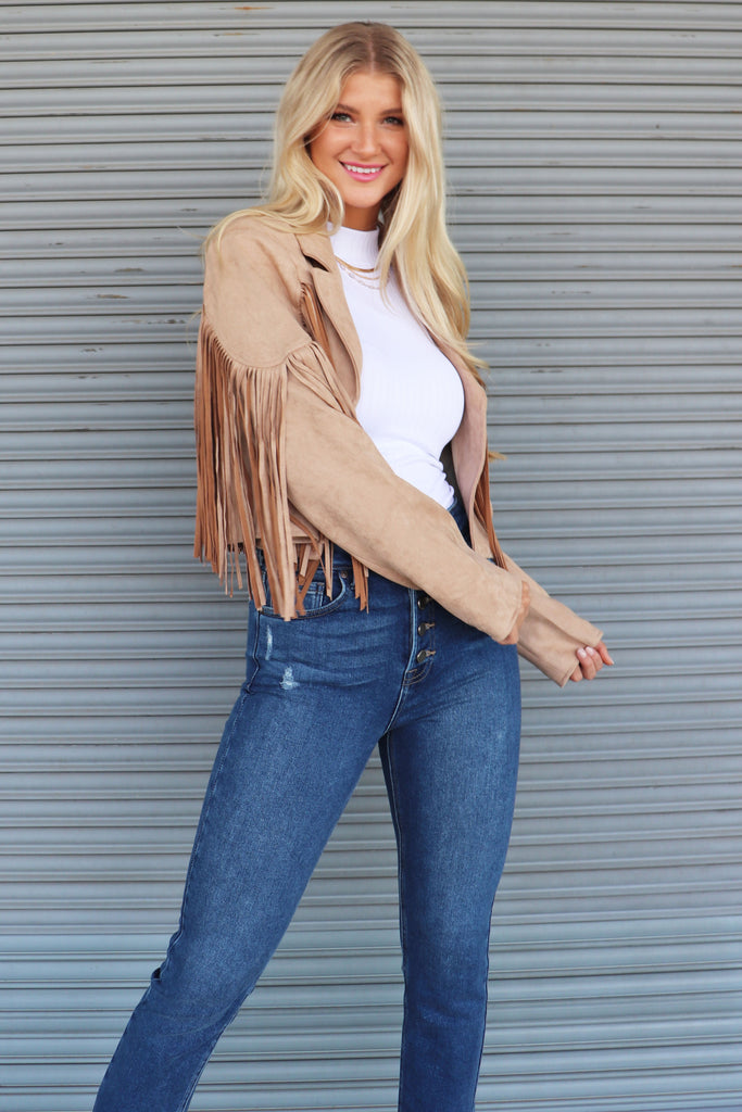 FEARLESS SUEDE MOTO JACKET