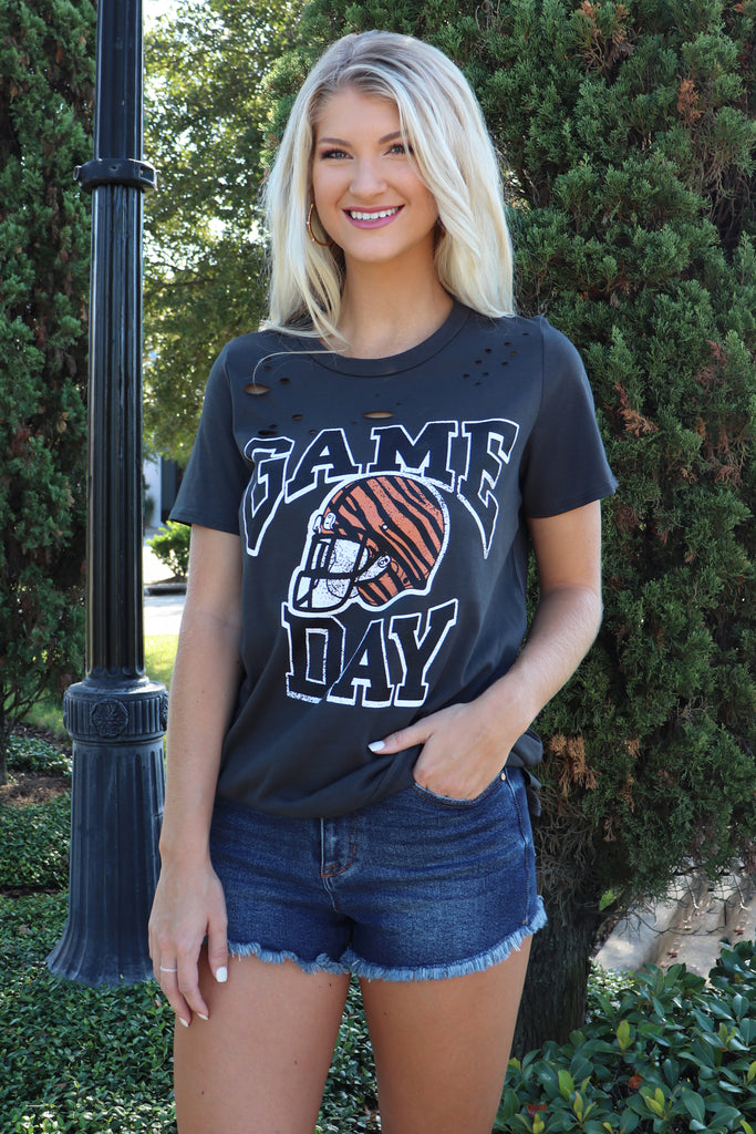 GAME DAY BLACK GRAPHIC TANK