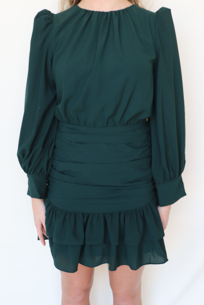 OWN IT RUCHED LONG SLEEVE DRESS | TCEC Blu Spero online shopping