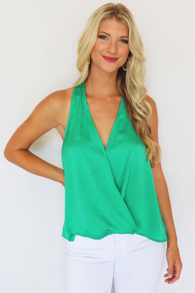 STYLE REMAINS EMERALD TANK | FAIRE Blu Spero online shopping