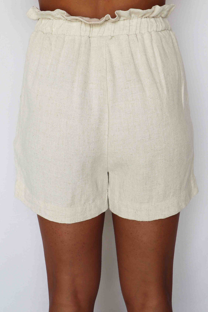 SHINE FROM ABOVE LINEN PAPER BAG SHORTS