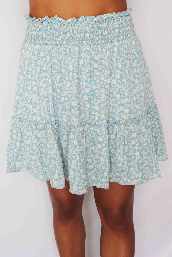 LIFE IN MYSTERY FLORAL SKIRT
