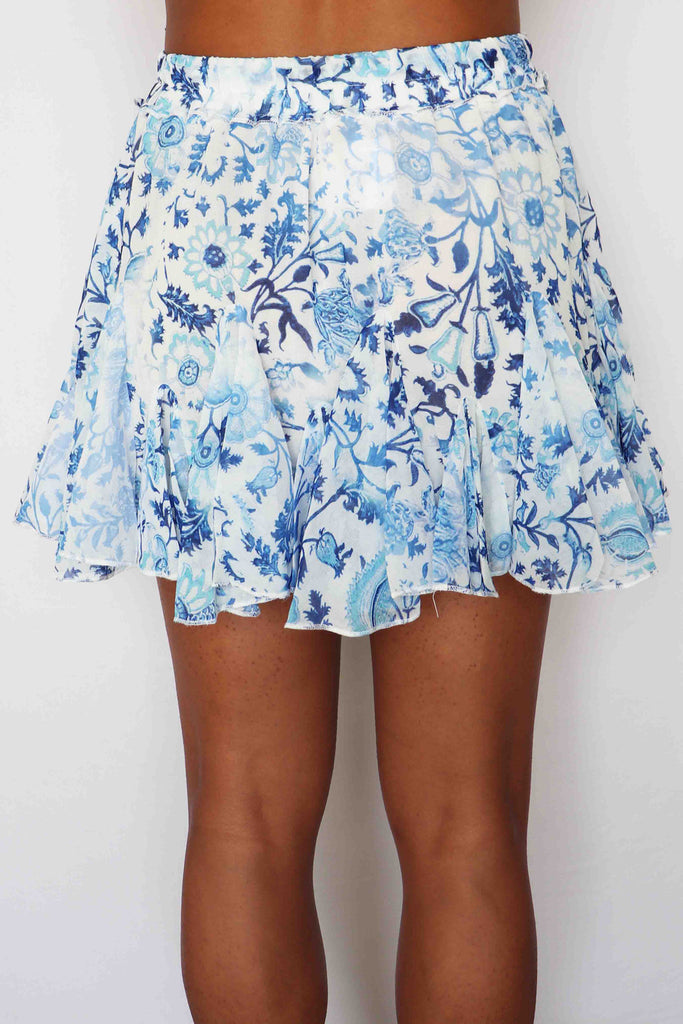 WOMEN'S WORLD FLORAL FLOWY SKIRT