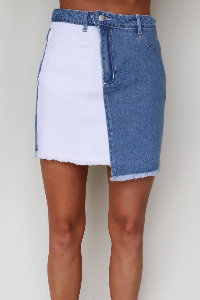 YOU ARE MY SUNSHINE TWO TONE SKIRT