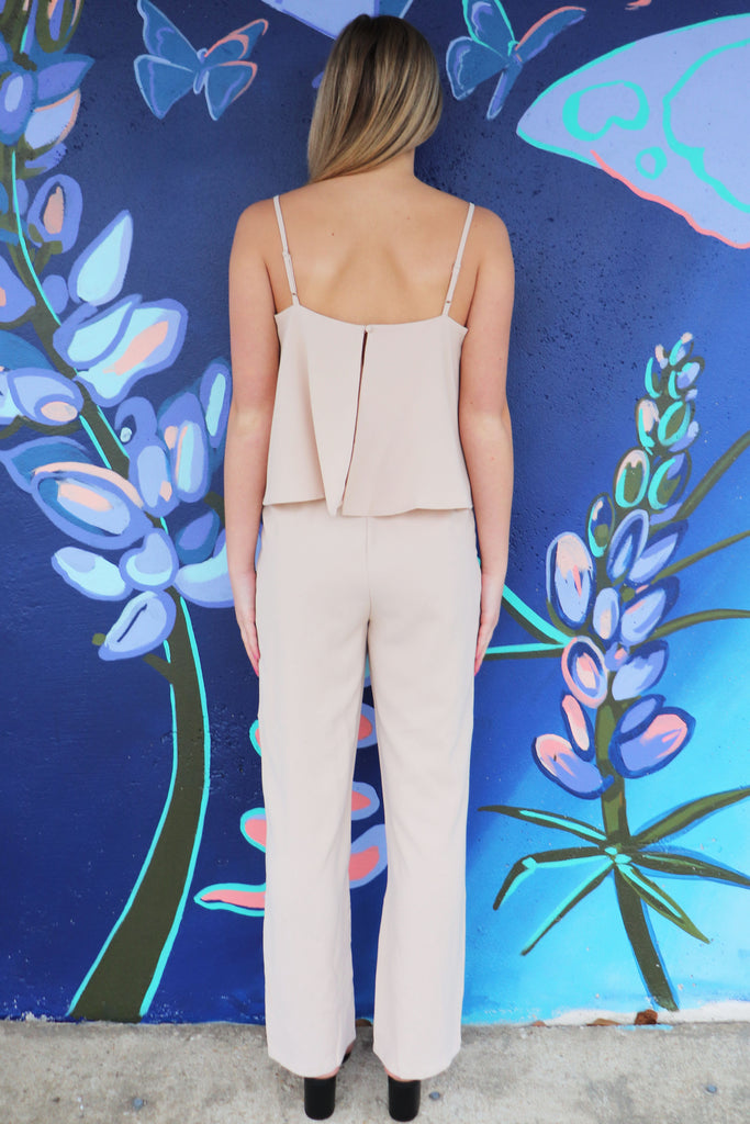 CLOSER TO YOU BEIGE JUMPSUIT