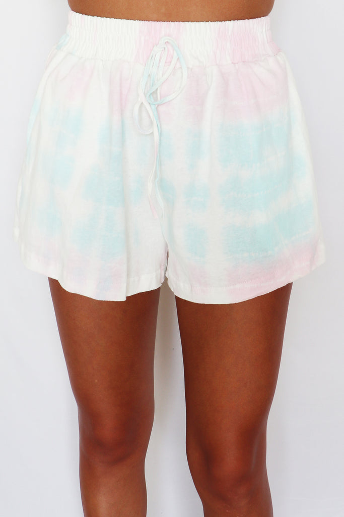 TIE DYE FOR LOUNGE SET SHORTS | la miel Blu Spero online shopping