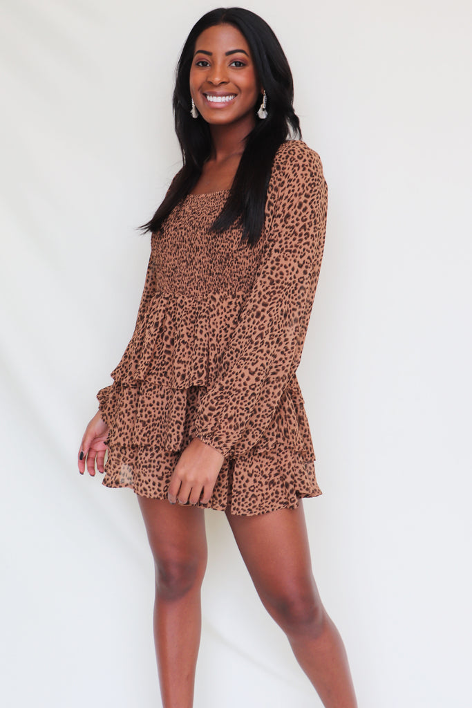 FELINE MYSELF LONG SLEEVE ROMPER