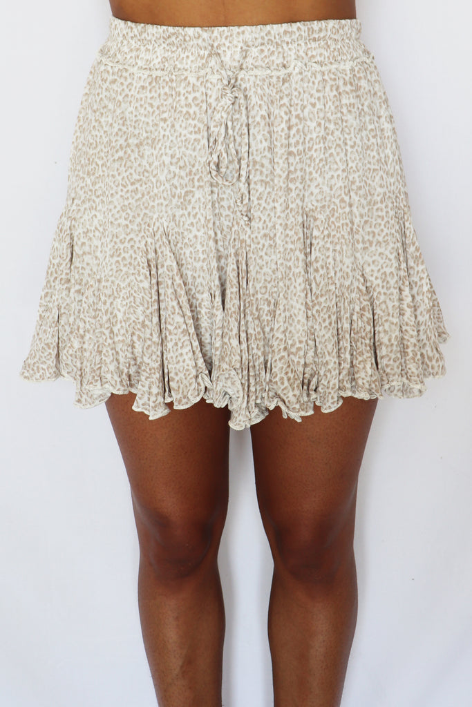 WOMEN'S WORLD ANIMAL PRINT FLOWY SKIRT