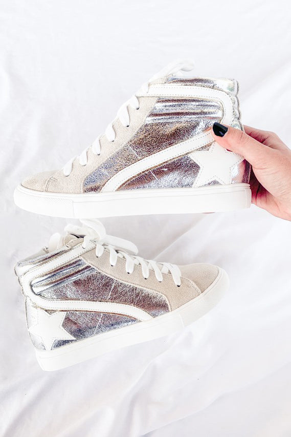 DAPHNE HIGH-TOP SNEAKERS