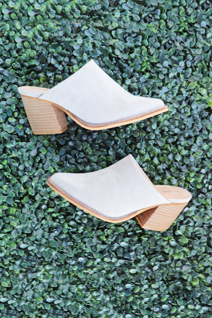 SISSY TAUPE MULES | AMA GLOBAL Blu Spero online shopping