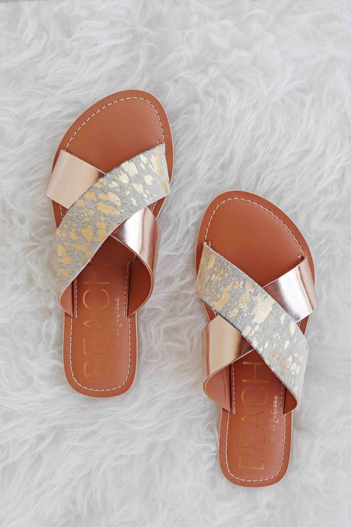 KENNEDY CRISS-CROSS METALLIC FLATS