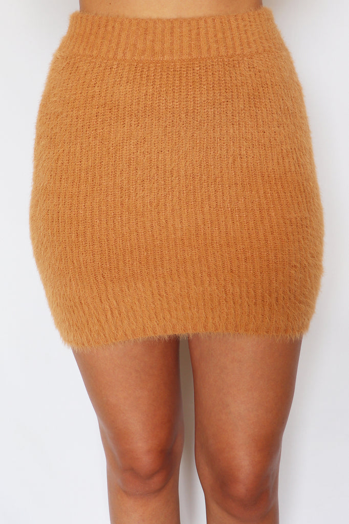OLD ME FUZZY SWEATER SKIRT | IDEM DITTO Blu Spero online shopping