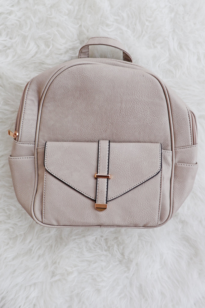 STONE FAUX LEATHER BACKPACK | BAG BOUTIQUE Blu Spero online shopping