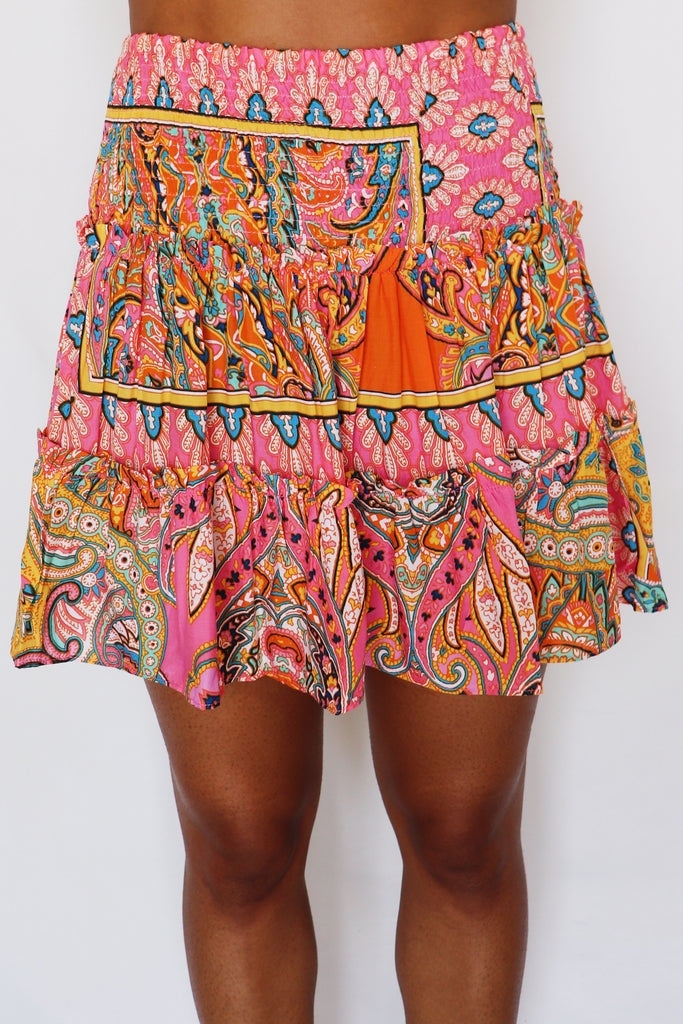 OH MY CHIC PAISLEY SKIRT