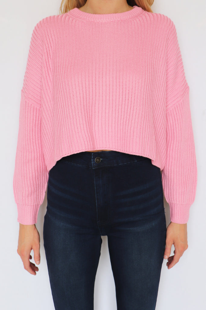 COMING UP COZY SWEATER - 2 COLORS | COTTON CANDY Blu Spero online shopping