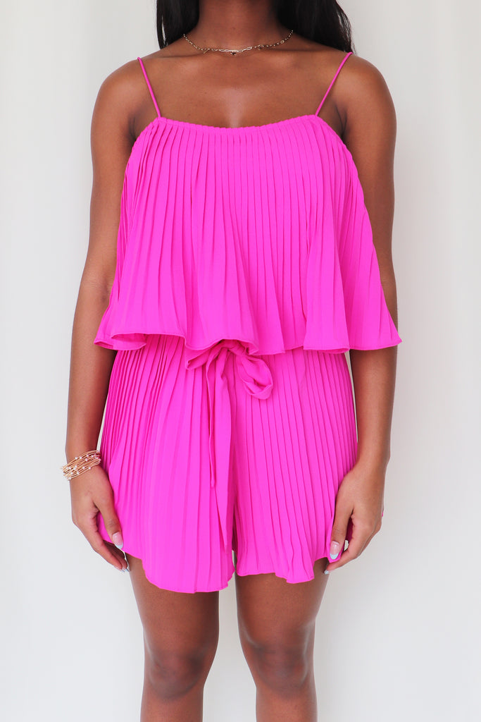 ALL YOU NEED PLEATED ROMPER