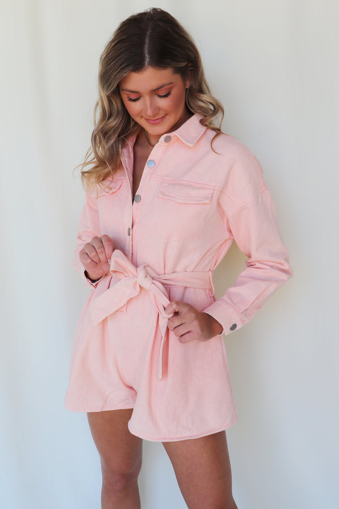 WIDE OPEN SPACES UTILITY BELTED ROMPER - 2 COLORS