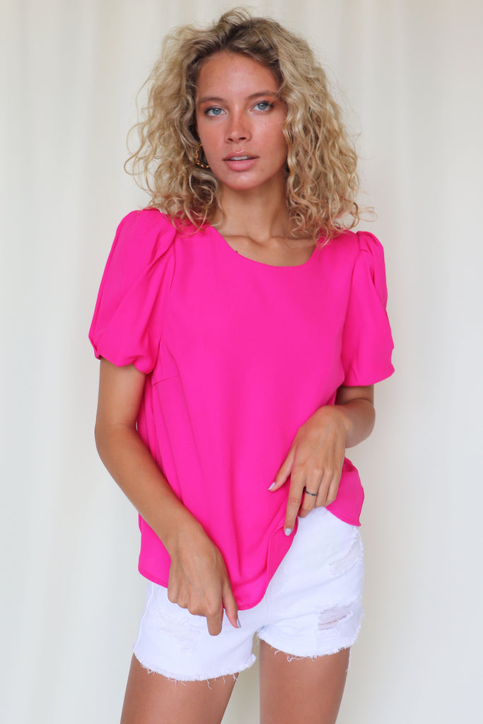 ISLAND TIME HOT PINK TOP