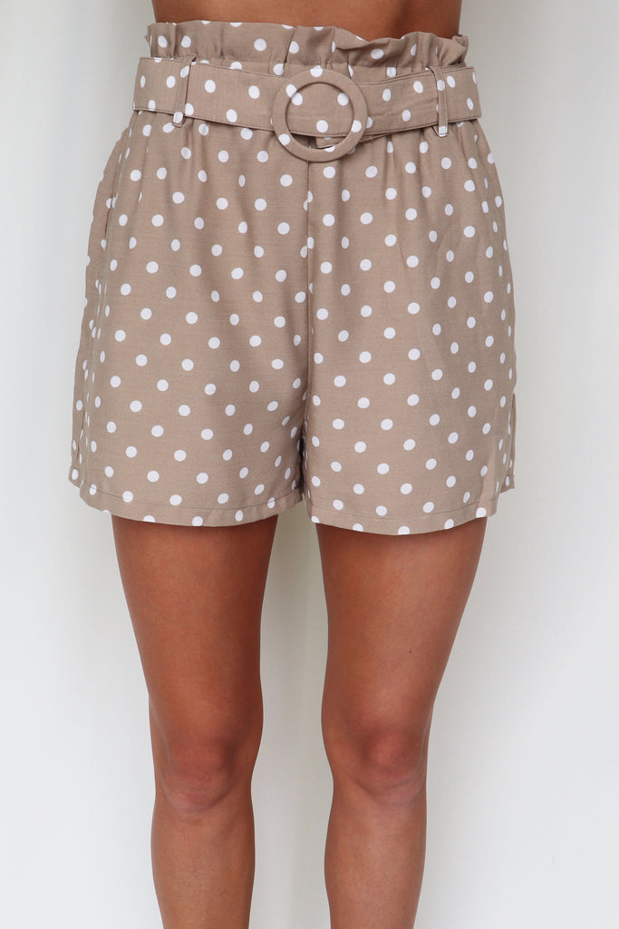 JUST A FOOLD POLKA DOT SHORTS