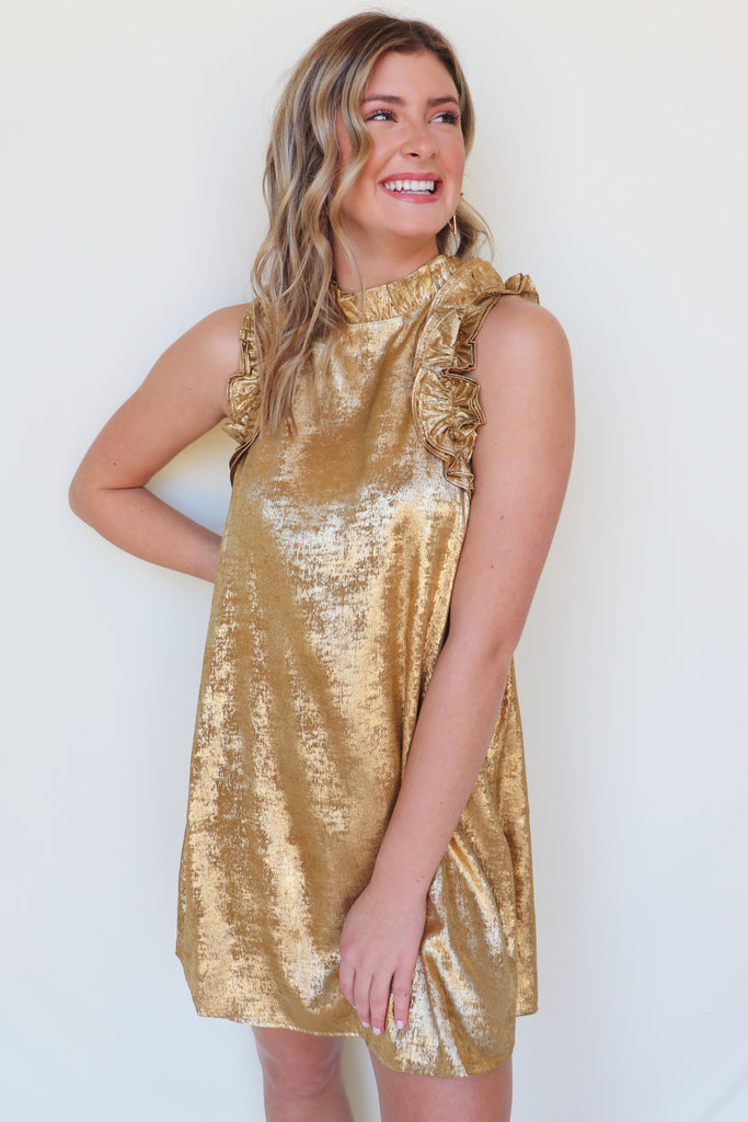 PARTNERS IN TIME GOLD DRESS | TCEC Blu Spero online shopping