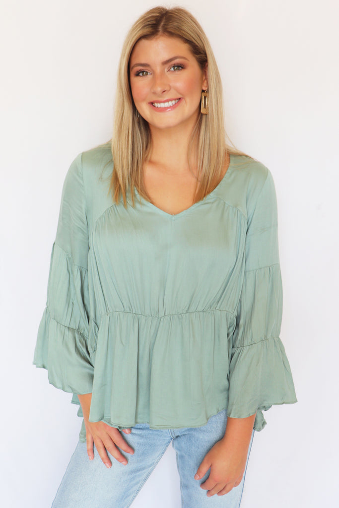 MEANT TO BE SAGE BLOUSE