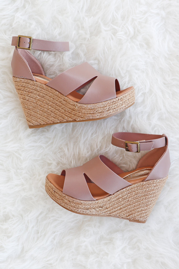 EMERY ESPADRILLE TAUPE WEDGE